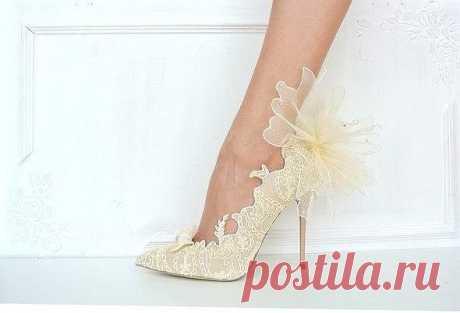 Разное >Декор свадебных туфелек