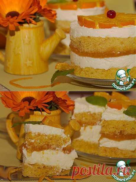 Десерт Баварезе с горячими апельсиновыми дольками. Автор: Марина Мармеладинка