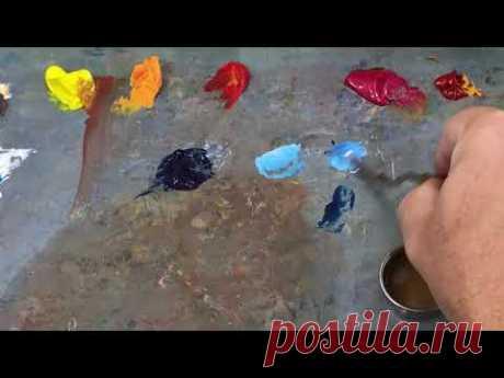 Как начинать работу в технике масляной живописи - YouTube