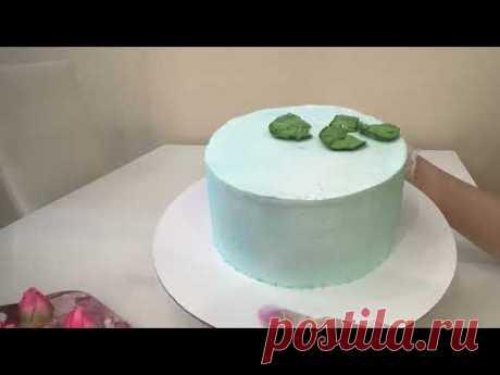 Это НЕВЕРОЯТНО 😍 МК ЛОТОСЫ из Белкового крема 🔥 Красивый торт!