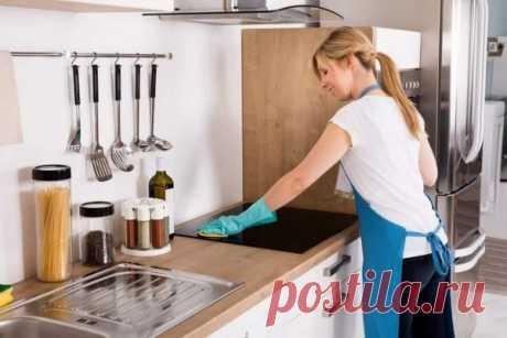 Максимально быстрая уборка кухни, пока закипает чайник