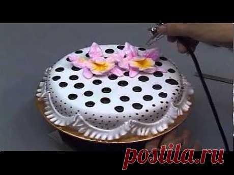 Украшение тортов 2 - YouTube