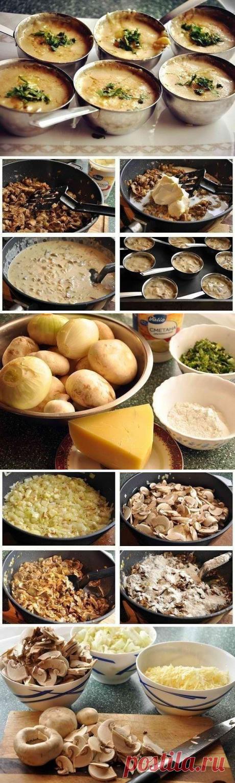 Как приготовить жульен из шампиньонов - рецепт, ингридиенты и фотографии