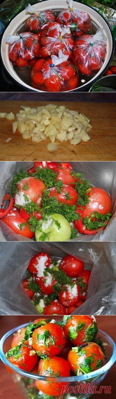 Как приготовить помидоры в пакетах - рецепт, ингредиенты и фотографии