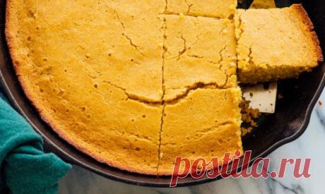 Рецепт: Кукурузный хлеб с медовым маслом   Молодой кондитер,старый кулинар   Яндекс Дзен