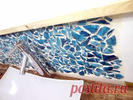 Mason Jar Mosaic Backsplash | Reality Daydream