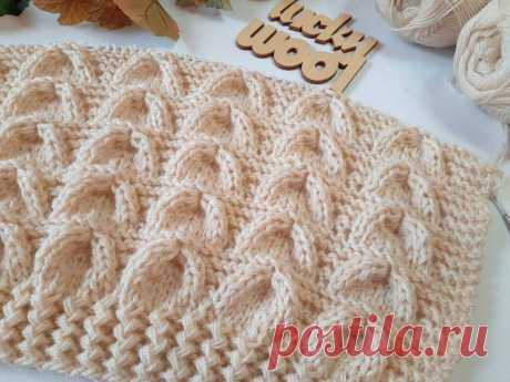 Узор «Колокола». Классный узор для вязания пуловера, джемпера, свитера  | Вяжем Тут