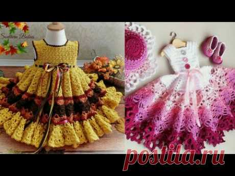 Crochet frock /dresses beautiful collection for little girls / baby girls baby / princess...