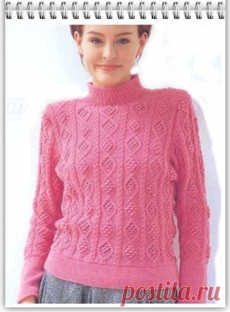 Галкин Дневник: Узор спицами (79) для вязания легкого свитера