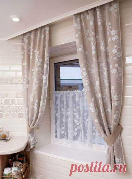 Миллион идей для пошива кухонных штор и занавесок