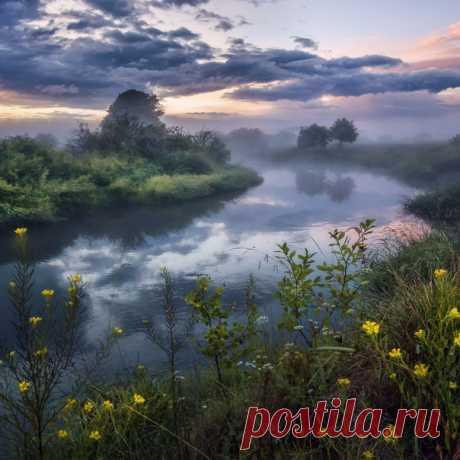 Закат в Филипповском, Владимирская область, Россия. Снимала Евгения Ботова.