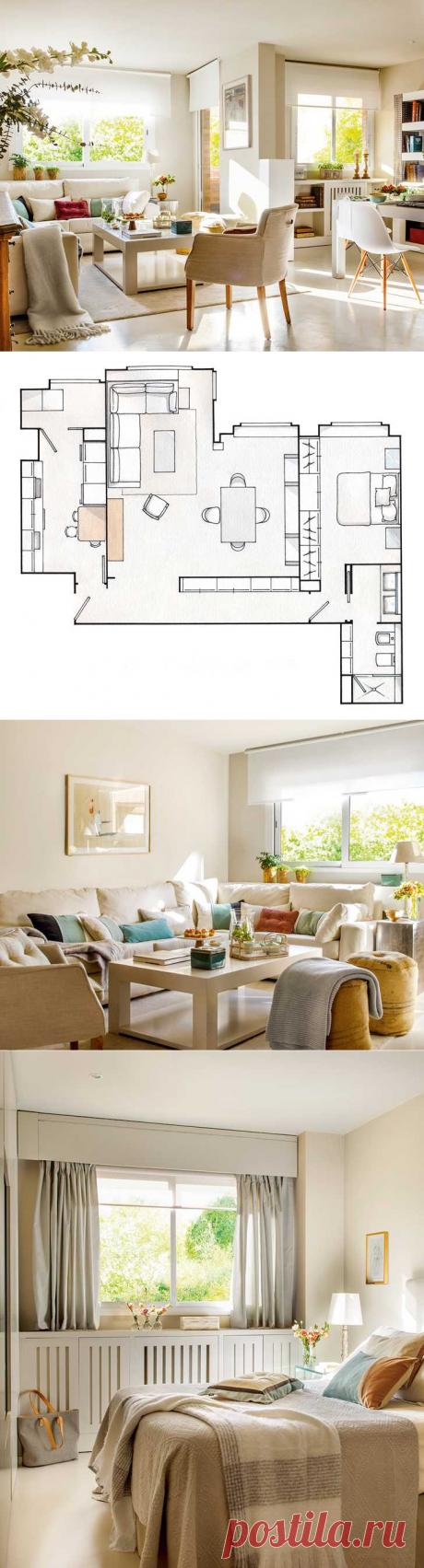 〚 Море тепла и уюта в солнечной испанской квартире (70 кв. м) 〛 ◾ Фото ◾Идеи◾ Дизайн