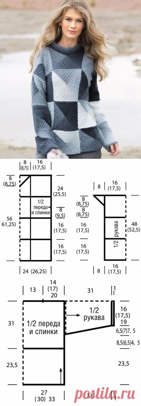 Вязание пэчворк спицами: 12 моделей со схемами, описанием, видео мк