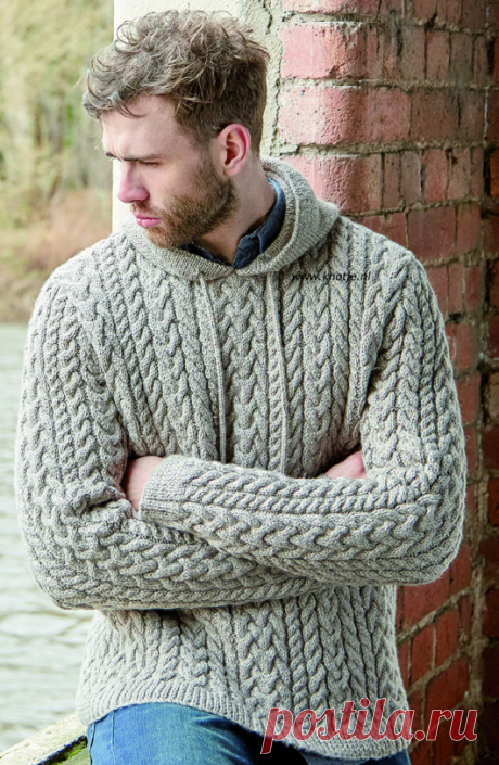 Мужской вязаный свитер BRANDO | ДОМОСЕДКА