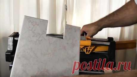 Как сделать прямоугольный вырез в керамической плитке | Своими руками