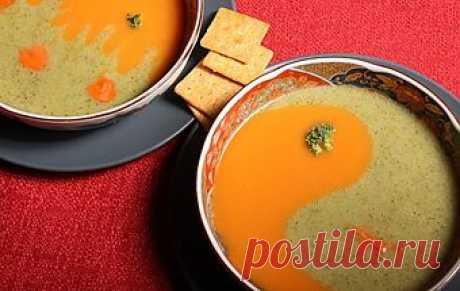 Суп-пюре «Инь-Янь» / Прочие супы / TVCook: пошаговые рецепты c фото