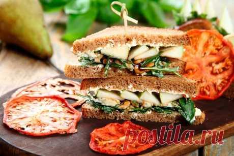 Как приготовить – Вкусные сэндвичи с сыром и грушей – пошаговый рецепт с фото.