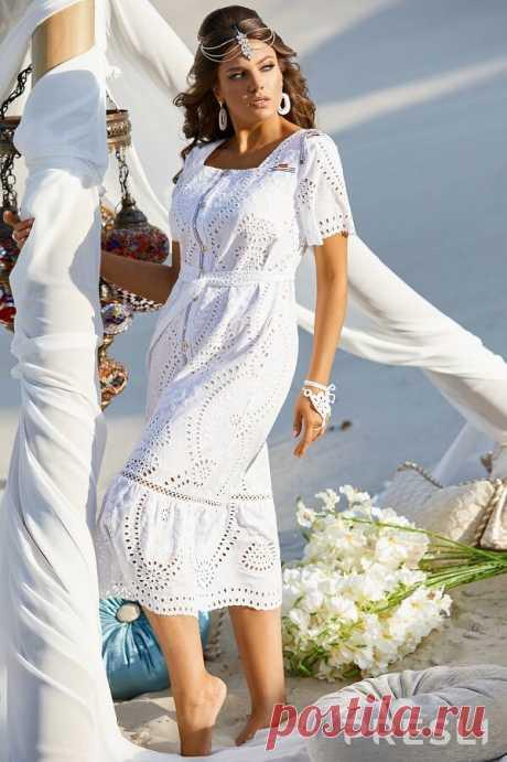 Белые платья для полных женщин от 30+ до 65+ | Будь в стиле! | Яндекс Дзен
