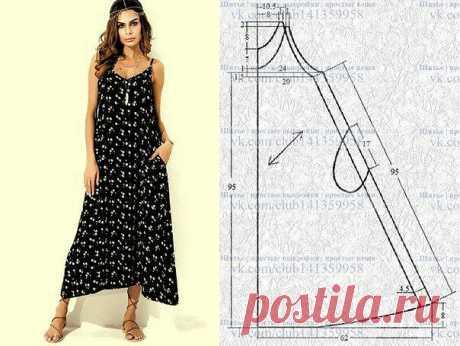 Выкройка платья-сарафана — DIYIdeas