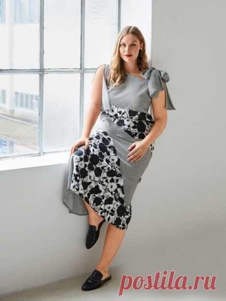 Макси-платье с рельефными швами - выкройка № 125 A из журнала 6/2018 Burda – выкройки платьев на Burdastyle.ru