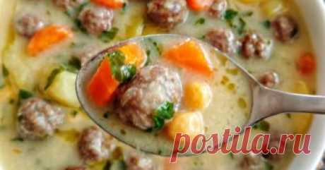Вкуснейший турецкий суп с фрикадельками С ума сойти, какой аппетитный! А всё благодаря заправке от восточных поваров.