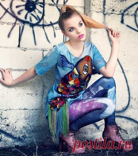 Яркая девочка (трафик) Модная одежда и дизайн интерьера своими руками