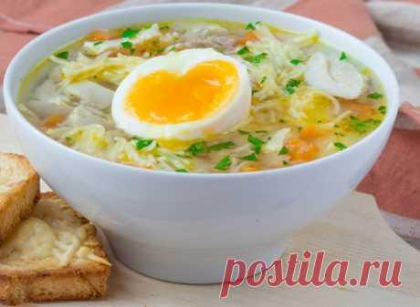 Легкий суп с яйцом | Вкусные рецепты
