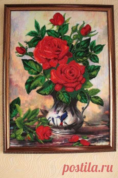 Розы вышитые бисером - Бисер. Работы пользователей