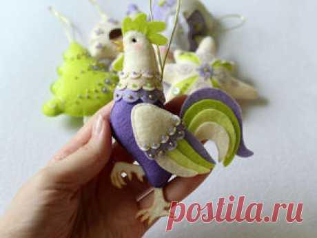 Шьем симпатичного петушка из фетра - Ярмарка Мастеров - ручная работа, handmade