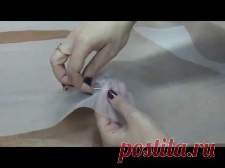 как правильно сметать вытачку на сложных тканях