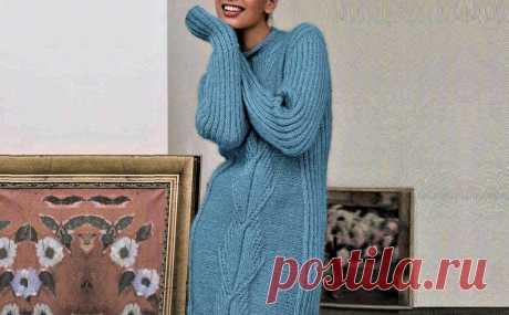 Просто связать тёплое платье спицами (с описанием и схемами) | Идеи рукоделия | Яндекс Дзен