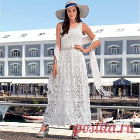 Кружевное платье спицами на лето - Портал рукоделия и моды
