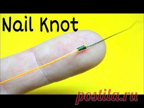 Соединительный узел nail knot. Как связать леску между собой. Лайфхаки и самоделки. Рыбалка 2021 - YouTube