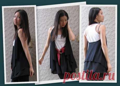 Очень простой жилет Модная одежда и дизайн интерьера своими руками