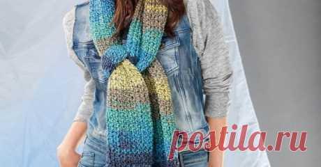 Вяжем очаровательные шарфики