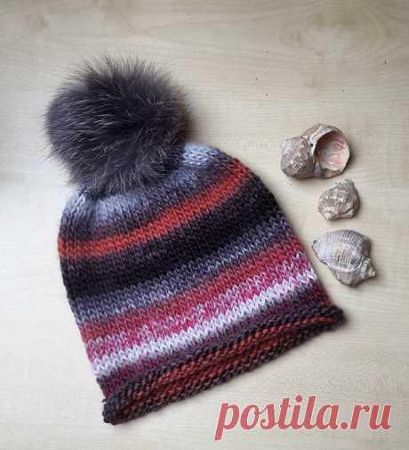 Вязание простых шапочек спицами