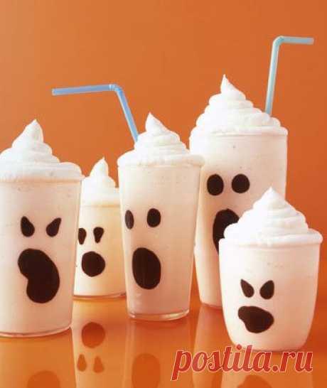 Декор коктейлей к Хеллоуину