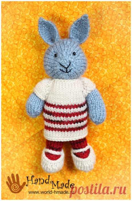 Вяжем зайчика по мотивам игрушки Джулии Уильямс.