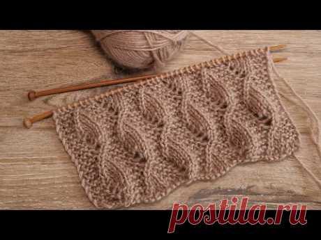 Узор «Песчаный вихрь» спицами 🌪 «Sand whirlwind» knitting pattern