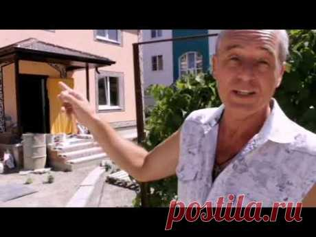 Каневская, строительство дома из кирпича и Арболит блока - YouTube