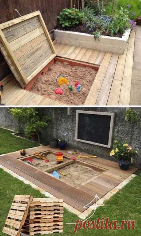 Закрывающаяся песочница на даче: идеи — Сделай сам, идеи для творчества - DIY Ideas