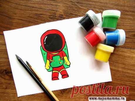 Космонавт красками Как нарисовать космонавта гуашью Космонавт красками. Мастер-класс как нарисовать космонавта гуашью. С пошаговым описанием и фотографиями, отражающими каждый этап работы.