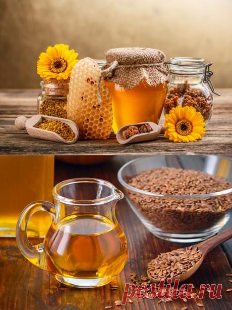 Мёд + семена льна = чистое удовольствие для желудочно-кишечного тракта. Природный источник омега-3. - Советы и Рецепты