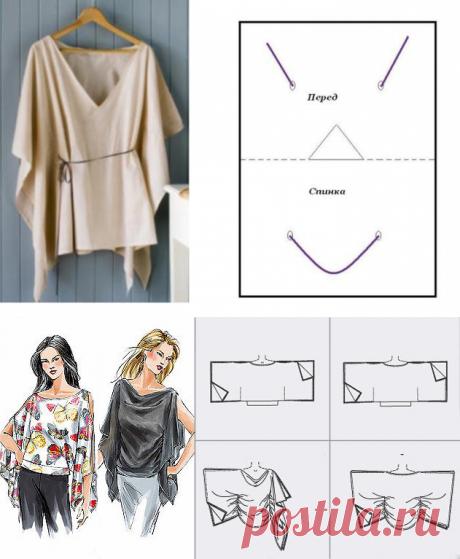 Легкие блузы — минимум шитья — Рукоделие
