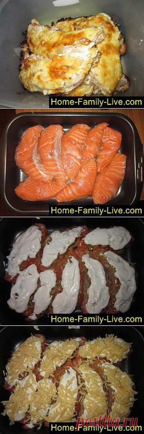 Семга в духовке - пошаговый фоторецепт - красная рыба в духовке | Кулинарные рецепты
