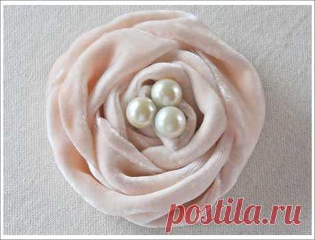 Розы из ткани - мастер класс