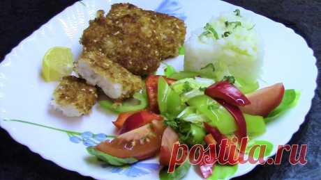Рыба в хрустящей корочке - вкусный постный рецепт! Палтус.