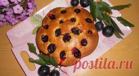 Сливовая шарлотка, пошаговый рецепт с фото