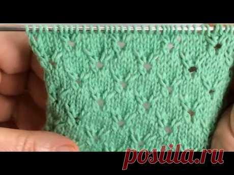Ажур для джемпера / Вязание спицами / Easy Openwork Knit Pattern