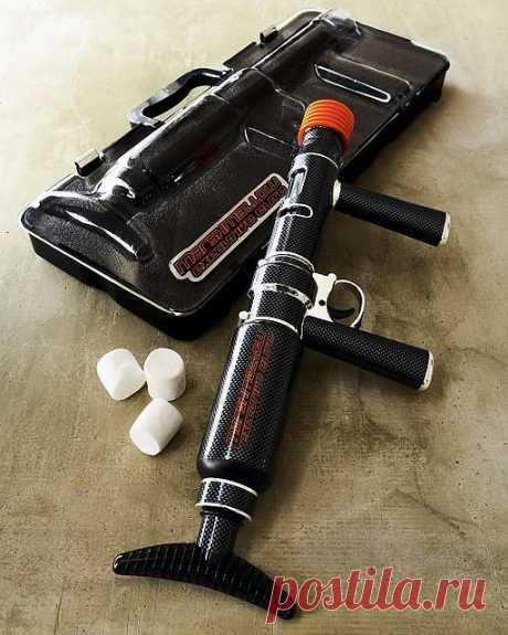 пулемет для маршмаллоу - дети в восторге